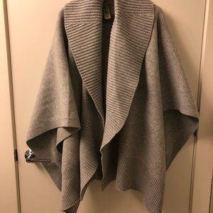 Burberry grey sweater wrap poncho! Brand new!
